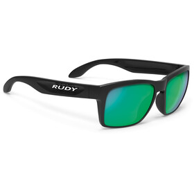 Rudy Project Spinhawk Slim Glasses Black Gloss/Multilaser Green
